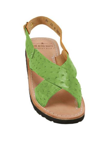Exotic Skin Lime Green Sandals