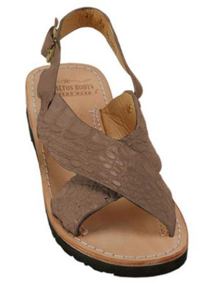 Exotic Skin Matte Black Sandals