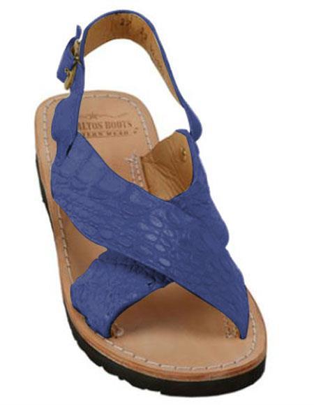 Exotic Skin Matte Navy Sandals