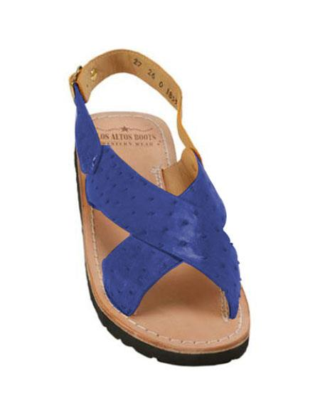 Exotic Skin Navy Sandals