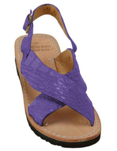 Exotic Skin Purple Color Sandals