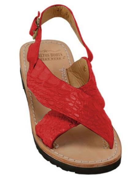 Exotic Skin Red Color Sandals