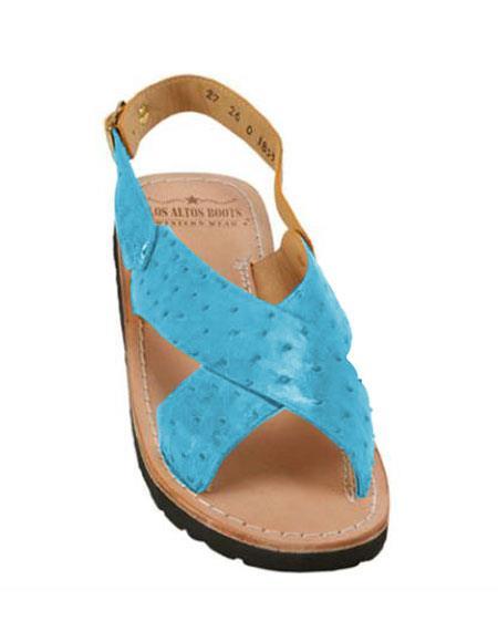 Exotic Skin Sky Blue Sandals