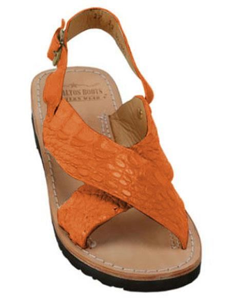 Exotic Skin Tangerine Color Sandals