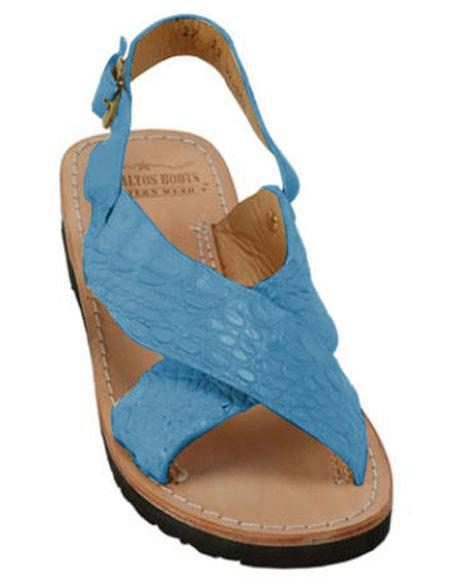 Exotic Skin Turquoise Color Sandals