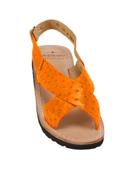 Exotic Tangerine Skin Sandals