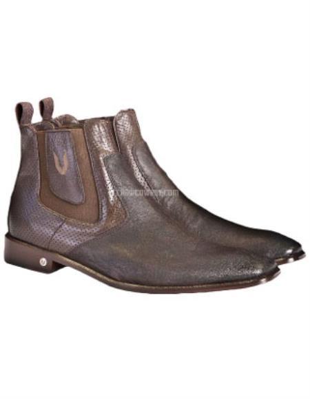 Vestigium Genuine Catshark Chelsea Boots Faded Brown
