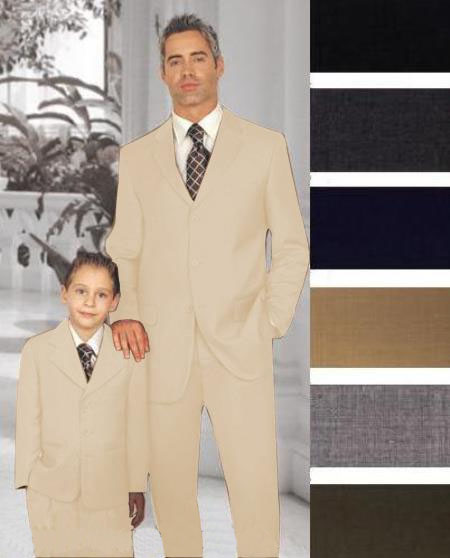 Father Son Beige Suit
