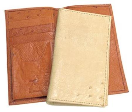 Ferrini Genuine Smooth Ostrich Wallet Color's: Buttercup, Oryx