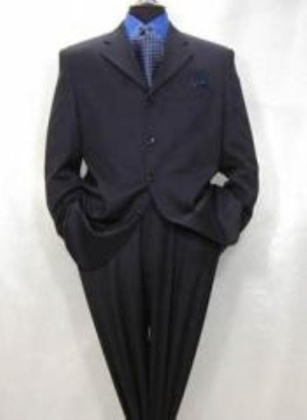 Four Button Navy Blue Suit