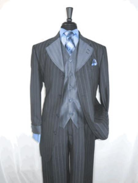 stylish gangster suits double breasted pinstripe suit