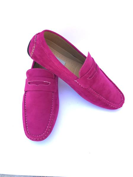 Fuchsia ~ Pink Slip-On Style Solid Fashionable Loafers
