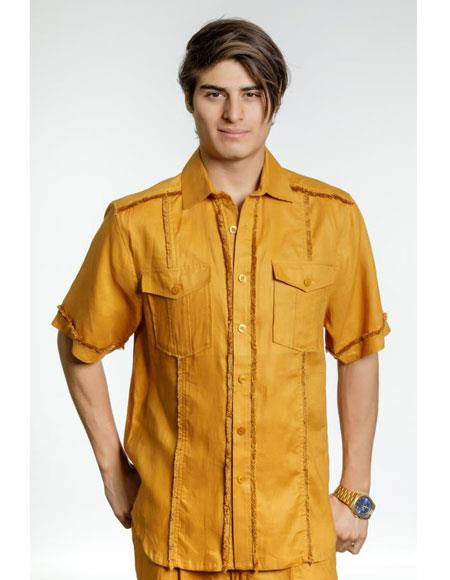 Gold-Color-Casual-Dress-Shirt-31730.jpg