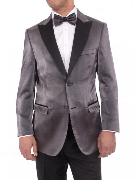 2 Button Gray Satin Blue Slim Fit Best Cheap Blazer Suit Jacket For Affordable Cheap Priced Unique Fancy For Men Available Big Sizes on sale Men Affordable Sport Coats Sale