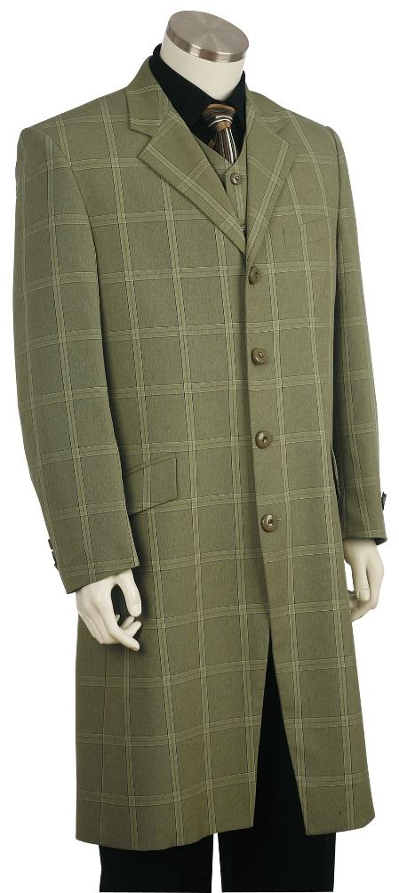 Men's Vintage Style Coats and Jackets Fashion Zoot Suit Green $171.00 AT vintagedancer.com