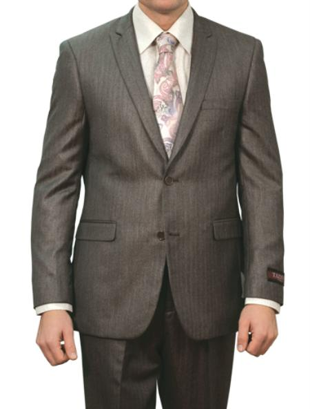 Grey Shiny Two Buttons Suit