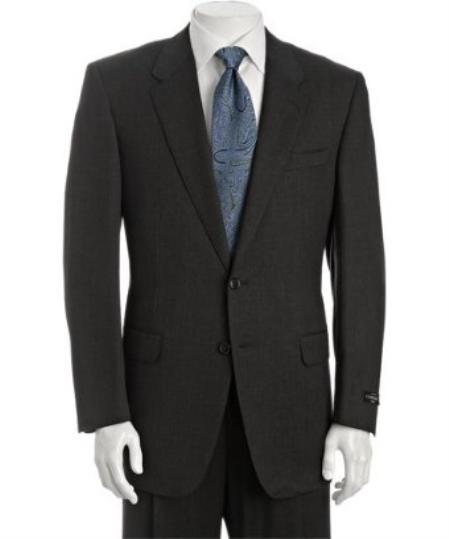 Dark Grey Superior fabric 110s Wool fabric 2-Button Suit with Single Pleated creased Trousers