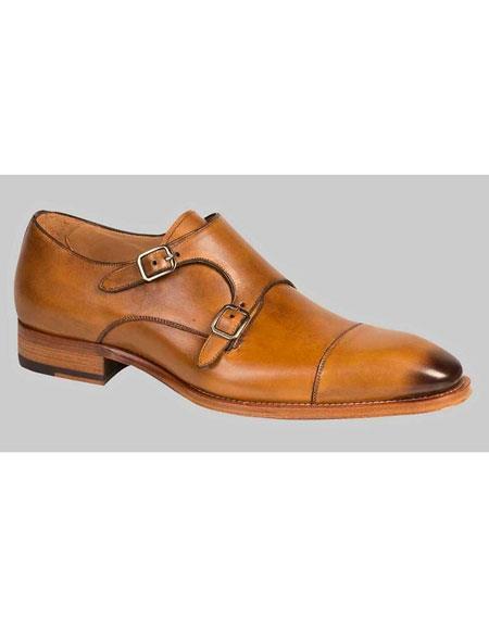 Honey Italian Calf Leather Shoes 34876 Jpg