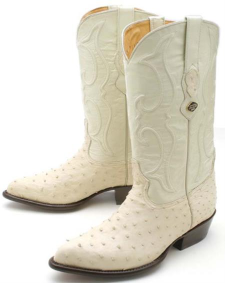 74dd9a75030 ID#KA3978 Full Quill Ostrich Cream ~ Ivory ~ Off White Authentic Los altos  Western Boots Western Rider