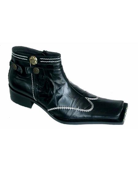 Leather-Pattern-Cushioned-Black-Shoe-40097.jpg