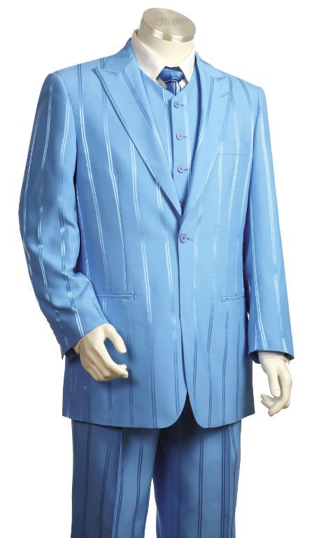 Light Blue Pinstripe Zoot Suit