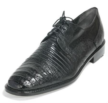 Los Altos Men/'s Genuine Caiman Belly With Teju Lizard Dress Shoes Lace Up Oxford