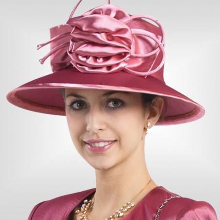 New Lynda's Rose Kentucky Derby Hat Brim Womens Church Hat