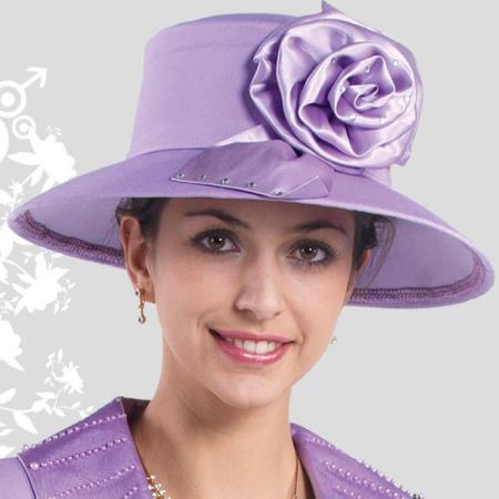 Womens Lavender Kentucky Derby Hat Brim Church Hat
