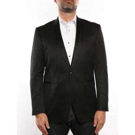 Single Buttons Shawl Collar Textured Tuxedo Slim Fit Sportcoat Jacket Dark color black Best Cheap Blazer For Affordable Cheap Priced Unique Fancy For Men Available Big Sizes on sale Men Affordable Sport Coats Sale