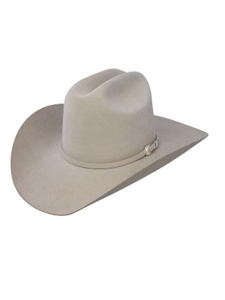 Stetson 10x Mist Gray Beaver Fur Felt western Hat a07d4b68bb0