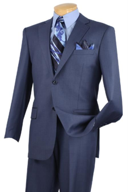 Executive 2 Piece Blue Big And Tall men's Suits