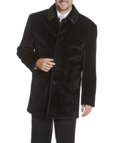 Mens-5-Button-Coat-Black