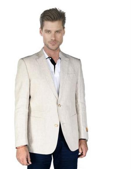 Sand ~ Natural ~ Beige Linen Sportcoat Jacket Best Cheap Blazer For Affordable Cheap Priced Unique Fancy For Men Available Big Sizes on sale Men Affordable Sport Coats Sale