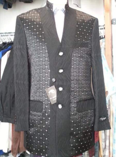 Mens-Black-4-Buttons-Suit-25020.jpg