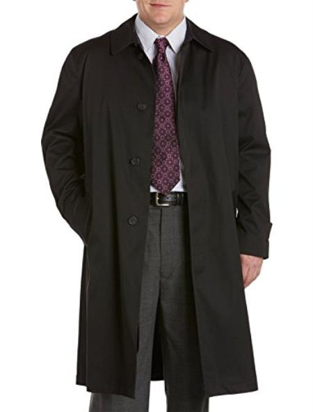 Mens Extra Long Outerwear Black Coat   Outer wear for men