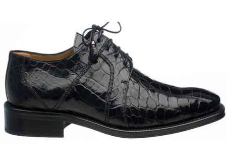 Ferrini Dark color black Full Gator skin Dress Shoes for Men 7115a092d98