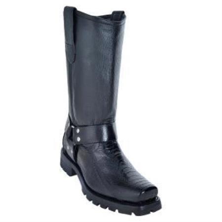 Mens-Black-Ostrich-Biker-Boots-23011.jpg