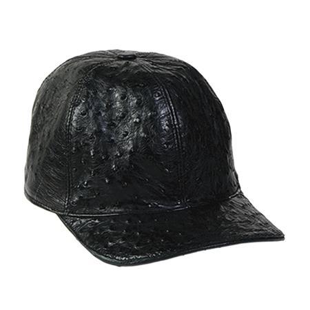 Mens-Black-Ostrich-Skin-Cap-12377.jpg