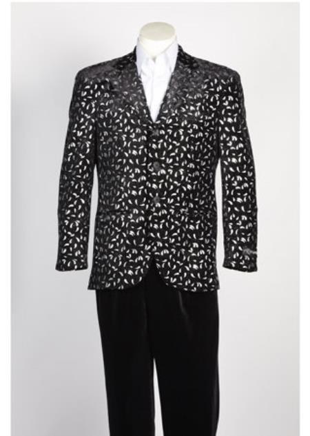 Black Silver Color Sportcoat