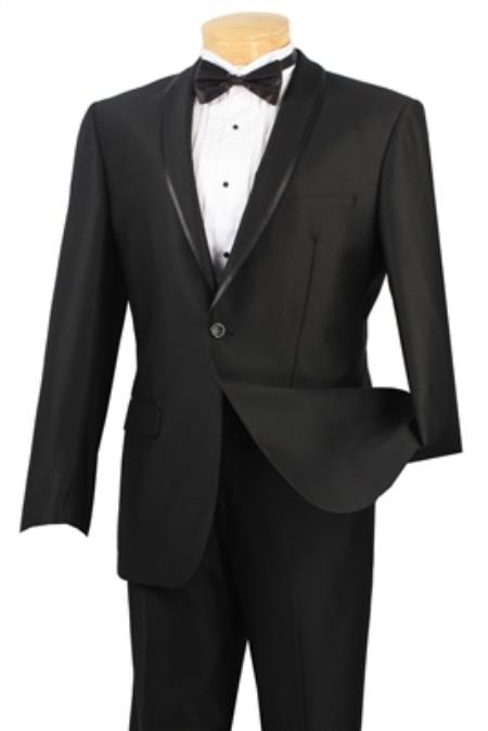 Shawl Collar Tapered Leg Lower Rise Pants & Get Skinny Black Men's Fashion Extra Slim Fit Suit