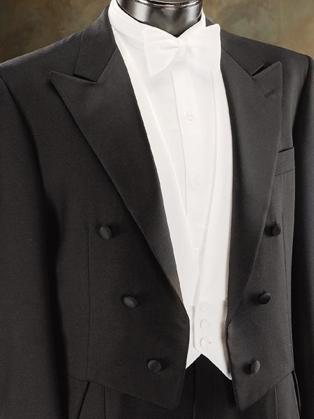 Edwardian Men's Formal Wear Dress Tuxedo Tailcoat in Dark color black or White $300.00 AT vintagedancer.com