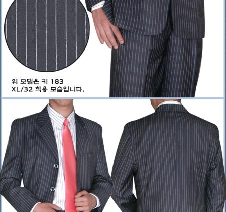 Mens Black Three Buttons Suit