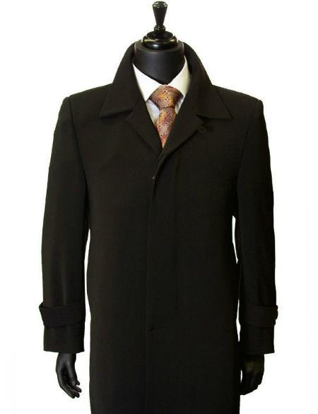 1920s Mens Coats & Jackets History All Weather Microfiber Gaberdine Trendy Classic Trench Top Coat Dark color black $200.00 AT vintagedancer.com