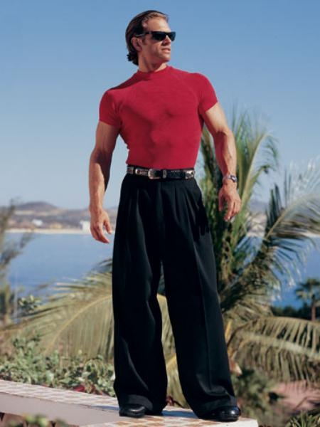 Men's Vintage Christmas Gift Ideas Deep Pleat-Wide Leg -22 Inch around the bottom in 10 Colors $90.00 AT vintagedancer.com