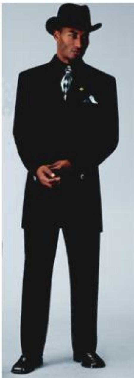 Sharp Dark color black Fashion Zoot Suit