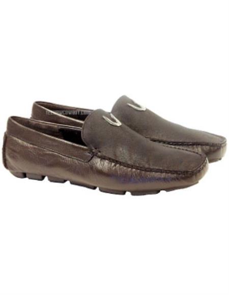 Vestigium Handcrafted Genuine Catshark Loafers Brown