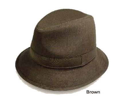 1960s Style Men's Hats | 60s Men's Hats & Caps New Fedora Trilby Hat Coco Chocolate brown $50.00 AT vintagedancer.com