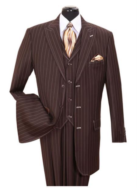 Brown Gangster Suit