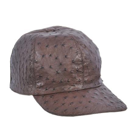 Mens-Brown-Ostrich-Skin-Cap-12376.jpg