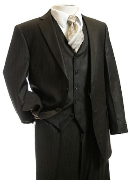Tailored pinstripe suits for men are one of the most distinguished looks in men's fashion. The stylish cut and design of the suit is the epitome of smooth, classic style that boasts confidence and swagger.